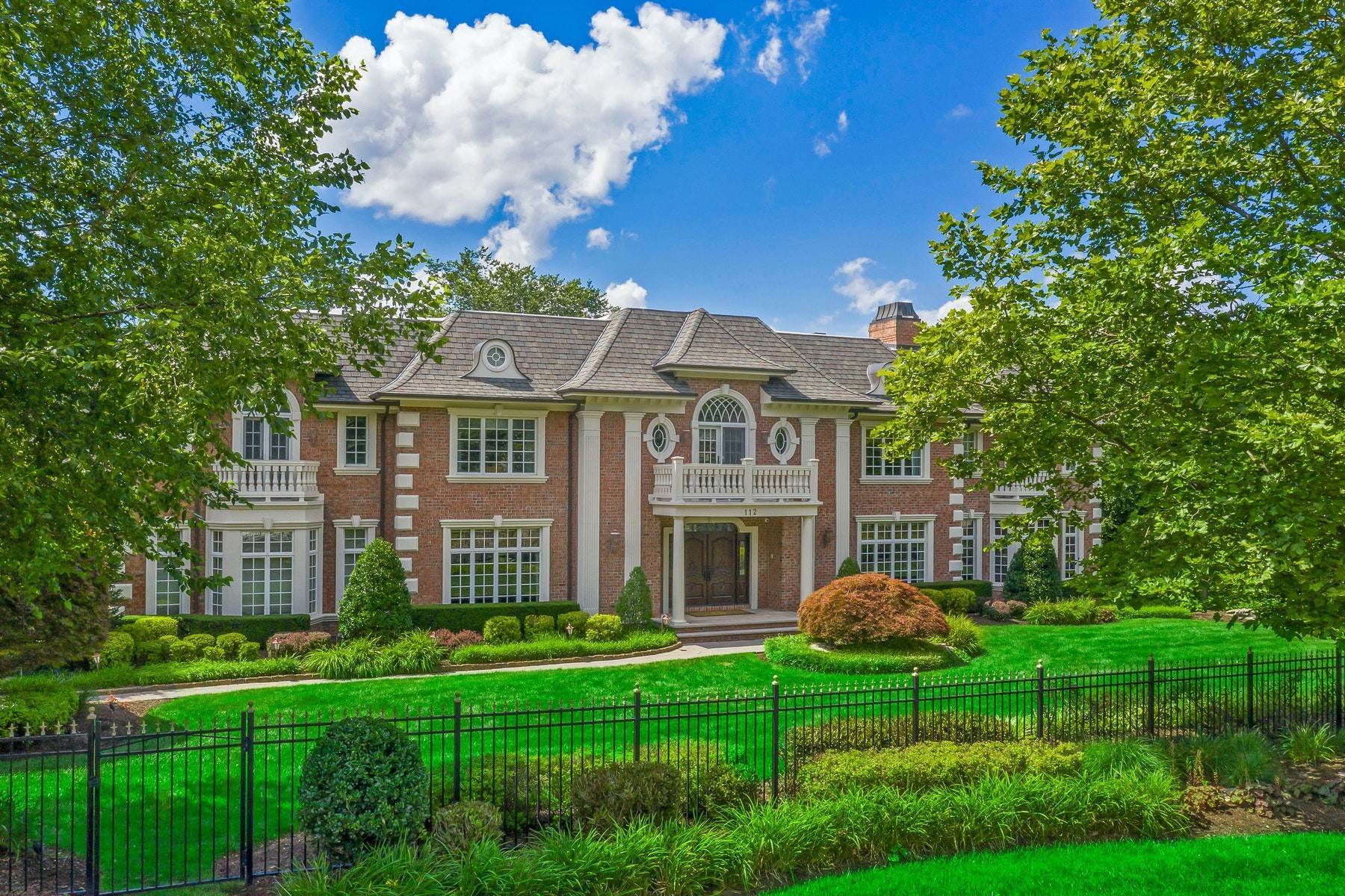 Single Family Homes for Sale at Tree Lined Cul-de-sac 112 Garden Ct Franklin Lakes, New Jersey 07417 United States