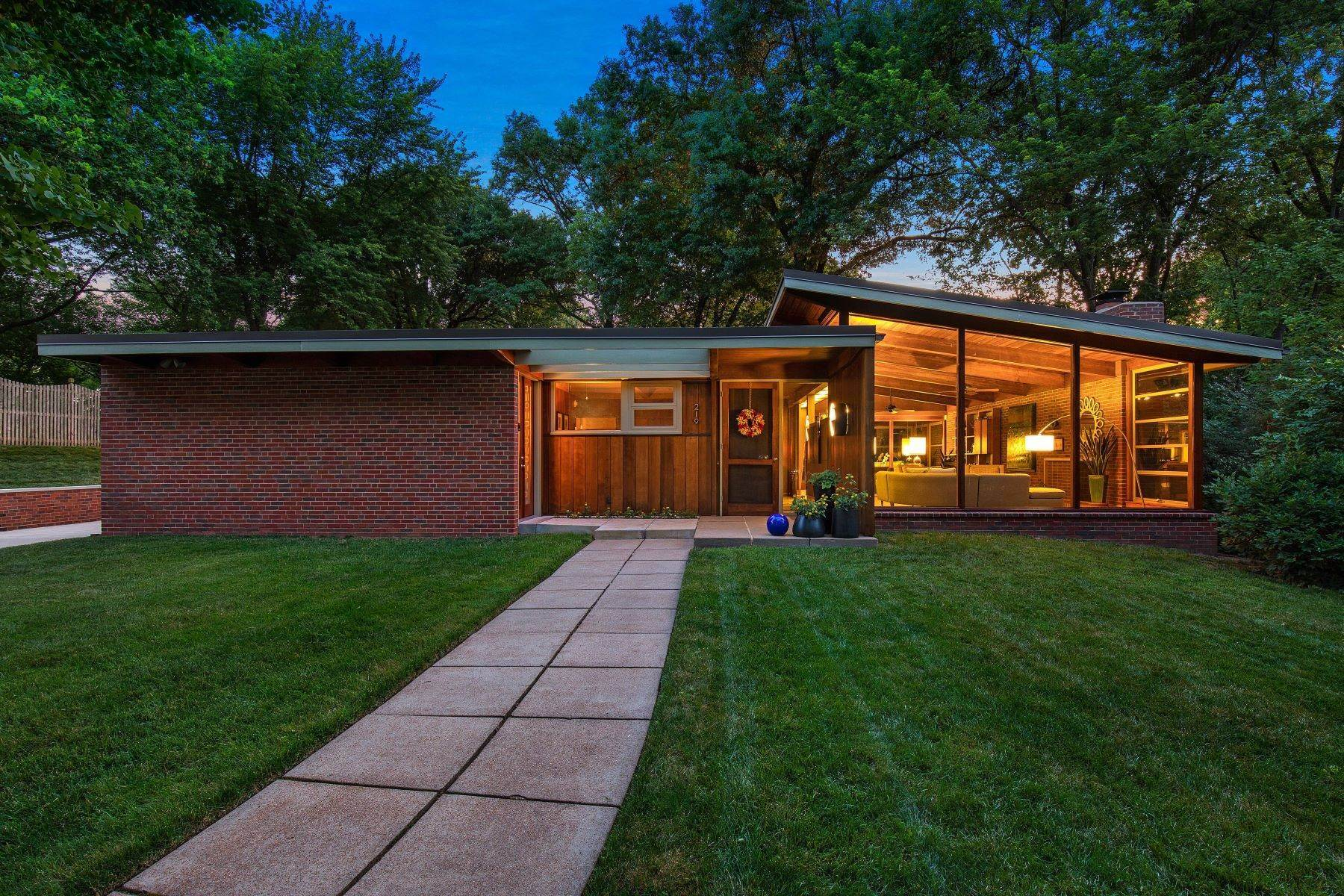 Single Family Homes for Sale at The Harry Hammerman House, an Important Mid-Century Masterpiece 219 Graybridge Road St. Louis, Missouri 63124 United States