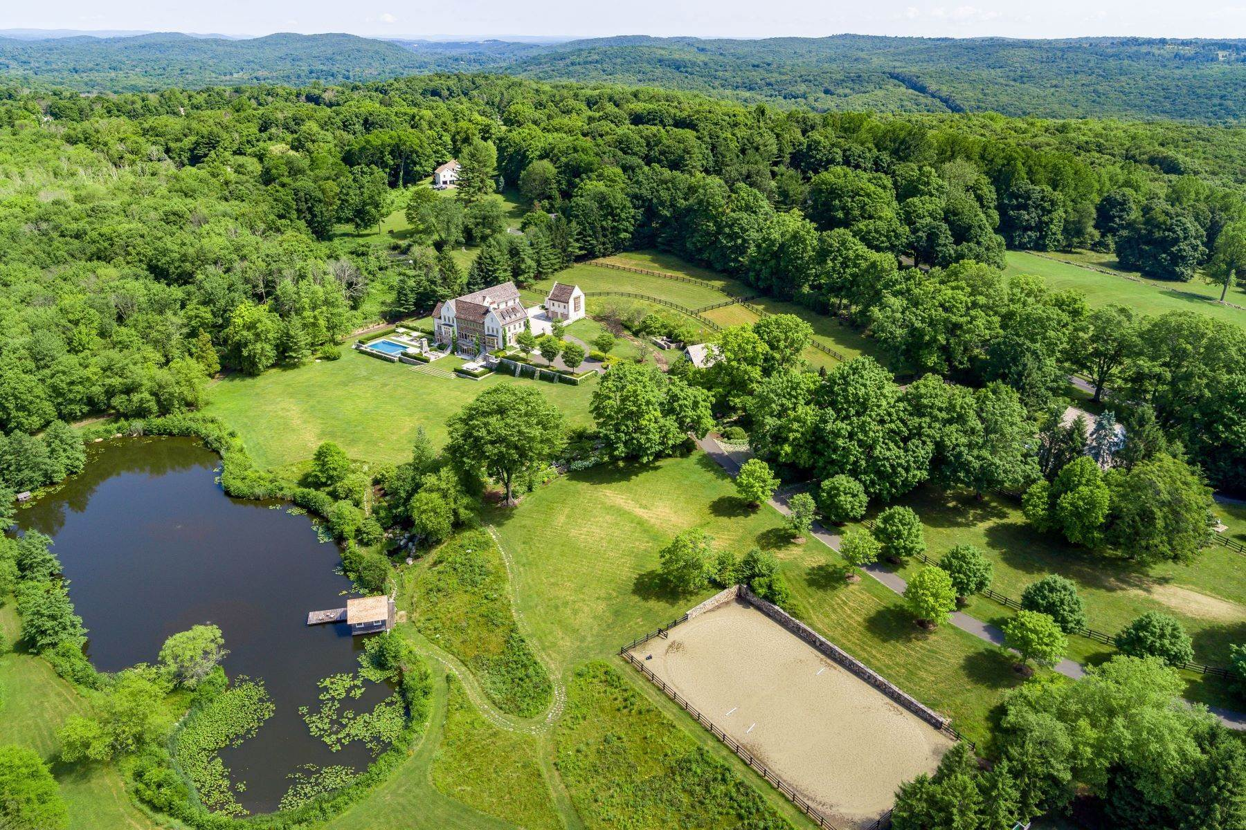 Single Family Homes for Sale at Maple Hill Farm on Nearly 50 Acres 187 Umpawaug Road Redding, Connecticut 06896 United States